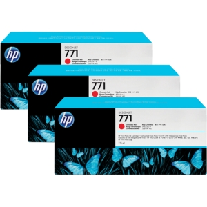 Buy 771C 3PACK 775ML CHROM RED DESIGNJET from HEWLETT PACKARD