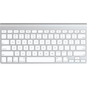 Buy Apple Wireless Keyboard, 2 x AA, Bluetooth, Grey/White, NOR from Apple