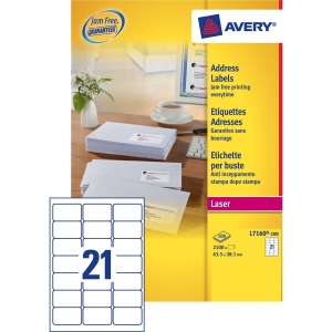 Buy Avery Laser Labels L7160-100 from AVERY