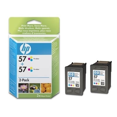 HP C9503AE No.57 2pk Tri-Colour Ink