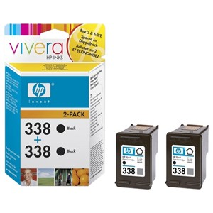 HP CB331EE No.338 Black Ink  Twin Pack