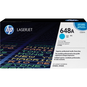 HP COLOR LASERJET CE261A CYAN PRINT