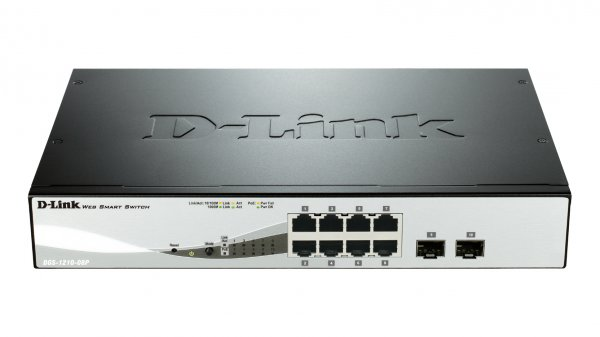 Buy D-Link DGS-1210-08P 8-Port Gigabit PoE Smart Switch with 2 SFP p from D-Link
