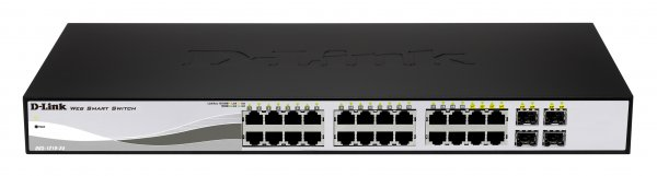 D-Link DGS-1210-24P 24-port Gigabit Smart PoE Switch with 4 SFP