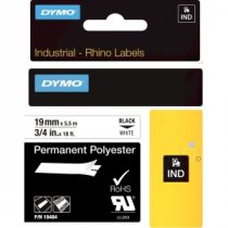 Buy Dymo 19mmx5.5m RHINO Permanent Polyester Label from Dymo