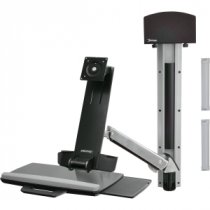 Buy Ergotron StyleView Sit-Stand Combo System All-In-One Wall Mounti from Ergotron