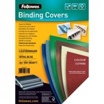 Buy Fellowes Binding Covers Royal Blue Pk100 from Fellowes