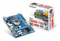 Buy Gigabyte H61M-DS2 Motherboard Core Socket 1155 Intel H61 Micro-A from Gigabyte