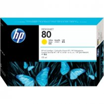 Buy HP C4873A NO 80 170 ml Yellow Ink Cartridge For Designjet 1000 S from HP