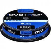 Buy Intenso x10 DVD+R 8.5GB Double Layer CB from INTENSO