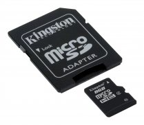 Buy Kingston 8GB CL4 microSDHC Card with Adapter from Kingston