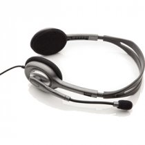 Buy Logitech H110 Wired Stereo Headset - Binaural - Black/Silver from Logitech