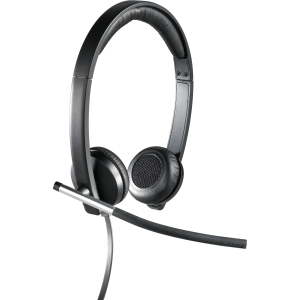 Buy Logitech H650e - Wired USB Binaural Head-Band Headset - Black/Si from Logitech