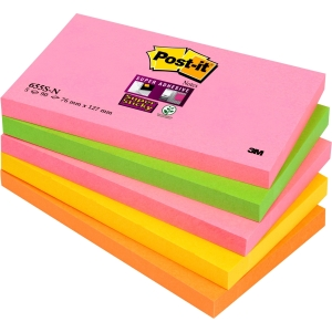 Post-It Super Sticky Nts 76x127 Neon Pk5