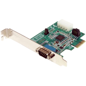 Buy StarTech 1 Port Native RS232 Serial PCIe Adapter Card with 16950 from StarTech