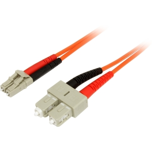 StarTech 2m Duplex Multi Mode Fiber Optic Cable LC-SC