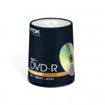 Buy TDK 100PK 4.7GB 16X DVD-R Spindle from TDK