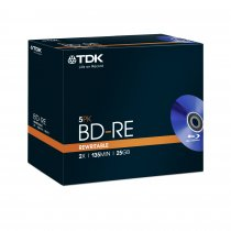 Buy TDK BD-RE 25GB 1-2x JC - 5pack from TDK