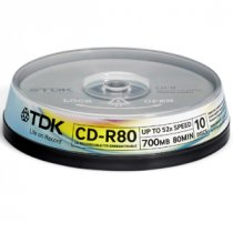 Buy TDK Cd-r 700mb 52x 10 Cakebox from TDK