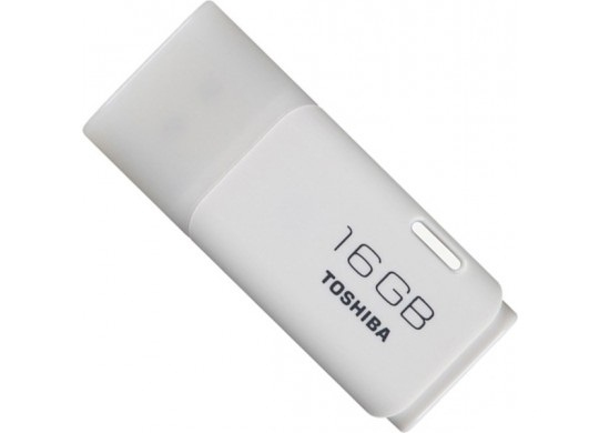 Toshiba PenDrive - 16GB Cap USB 2.0 Flash Drive - White