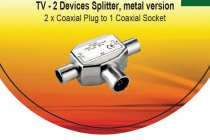 Buy V7 - Coax 2-Way Metallic 9.5mm Cable Splitters or Combiner from V7
