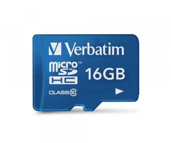 Verbatim Tablet MicroSDHC Card 16GB with SD Card Adapter